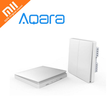 Original Xiaomi Aqara Wall Switch Smart Light Control 1 or 2 keys ZigBee Version Smarphone APP Remote smart home kit