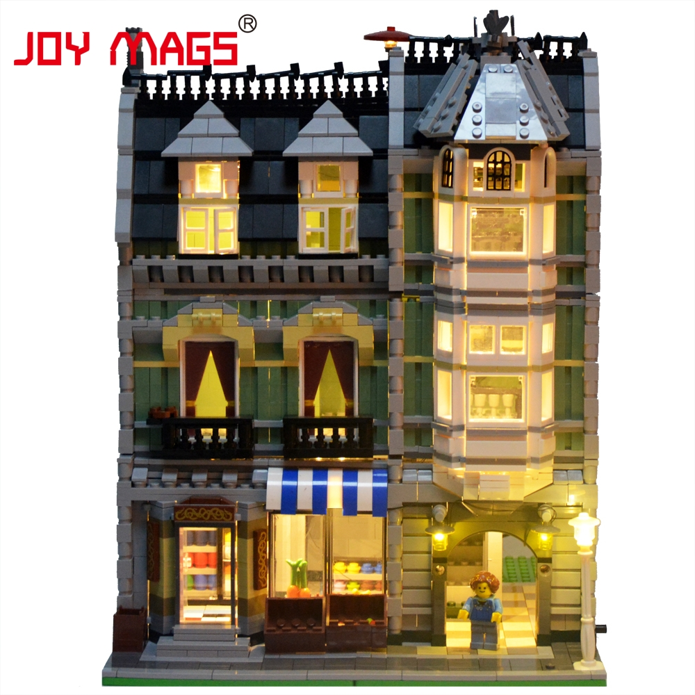 JOY MAGS Only Led Light Kit For Creator City Street Green Grocer Compatible With Lego 10185 Without Building Model a toy a dream lepin 15008 2462pcs city street creator green grocer model building kits blocks bricks compatible 10185