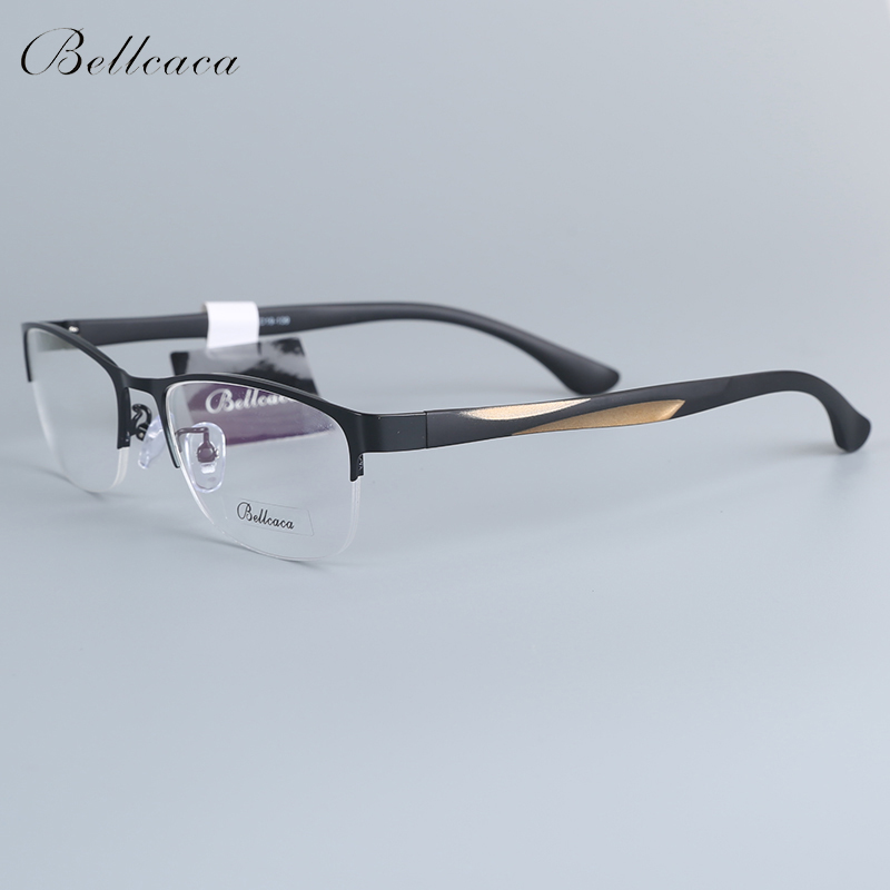 Bellcaca Spectacle Frame Men Eyeglasses Nerd Computer Optical Prescription Clear Lens Glasses Frame For Male Eyewear 12001 image