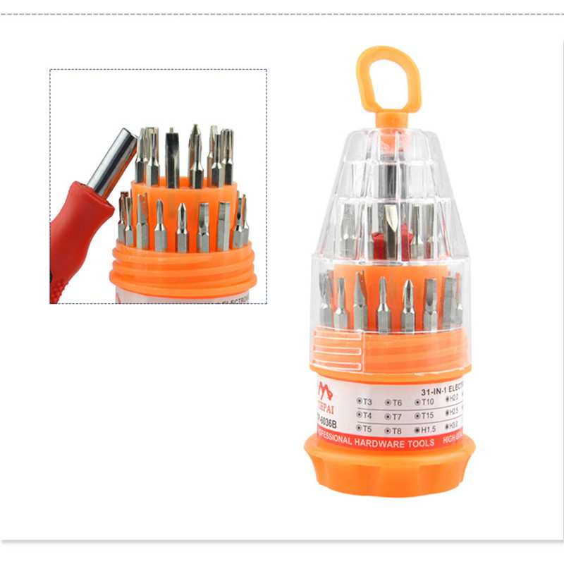 Urijk 31 in 1 Magnetic Screwdriver Set Torx Screwdriver Bits for Cell Phone Watch Laptop Repair Hand Tools Torx Screwdriver Tool 53 in 1 phone repair tools set precision torx screwdriver set for iphone laptop cell mobile phone electronics hand tool