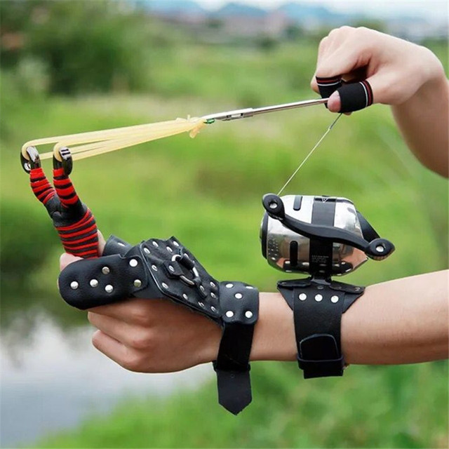 2019 New High Velocity For Fishing And Hunting Fishing Gear Slingshot Shooting Catapult + Fishing Fish Darts Crossbow Bolt