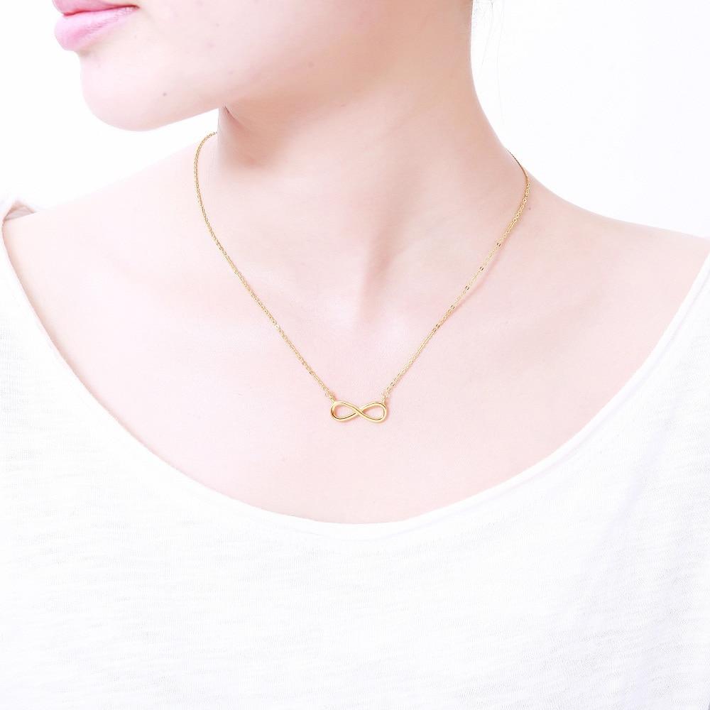 Zlato Šarm Infinity Privjesci Choker Ogrlice Za Žene Boho Nakit - Modni nakit - Foto 5