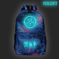 Beau noir Butler kuroshisuji sac à dos lumineux nouveau modèle ordinateur portable sac à dos mode hommes femmes garçons filles sac d'école