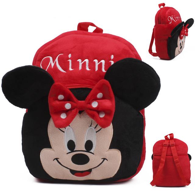 Bonito Red Minnie Sacos Para Crianças Nova Marca De Pelúcia Mini mochila Nova Marca Mini Sacos de Brinquedos Da Disney Mochila Escolar Infantil Dj050