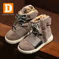 2015 Autumn Winter Girls Sneakers High Top Boys Shoes For Children Pu Leather Shoes Suede Baby Shoes Sneakers Short Plush Boots