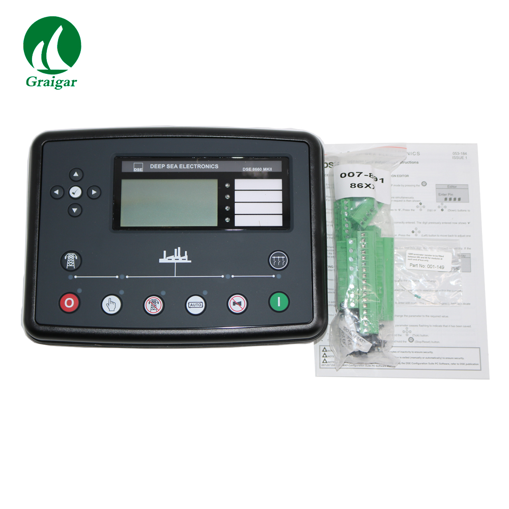 Original Deep Sea DSE8660 MKII Auto Transfer Switch & Mains  Control Module Frequency Range 3.5 Hz to 75 HzOriginal Deep Sea DSE8660 MKII Auto Transfer Switch & Mains  Control Module Frequency Range 3.5 Hz to 75 Hz