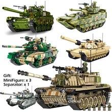 Военное сражение Loepard 2 II M60 Тип 99 T90 основной танк DIY строительных блоков Кирпичи детей игрушки fit legoingly дети мальчики подарок