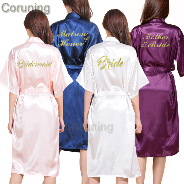 47bd2eb5de TJ02 Women Bathrobe Letter Bride Bridesmaid Mother of the Bride Maid of  Honor Get Ready Robes Bridal Party Gifts Dressing Gowns