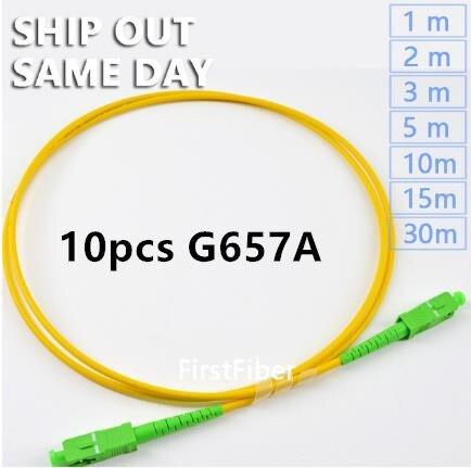 10pcs SC APC Patchcord  1m 2m 3m Patch Cord G657A Simplex 2.0mm fibra Optico SM Fiber Optic Jumper 5m 10m 15m10pcs SC APC Patchcord  1m 2m 3m Patch Cord G657A Simplex 2.0mm fibra Optico SM Fiber Optic Jumper 5m 10m 15m