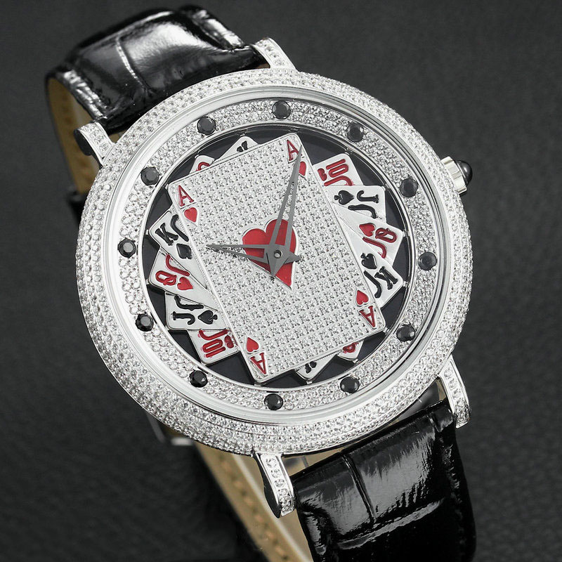 When The Quartz Rotates, The Poker Is Neutral. The star Is Full Of 5A Cut Zircon. The Large Dial Is For Men And Women.When The Quartz Rotates, The Poker Is Neutral. The star Is Full Of 5A Cut Zircon. The Large Dial Is For Men And Women.