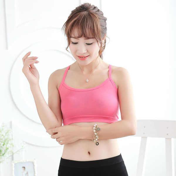 סקסי נשים בסיסי לדחוף את פעיל חזיית 8 צבעים Y רצועת קומפי מודאלי יוגה כושר אימון BH חזיות לנשים אלסטי מפנק תחתונים