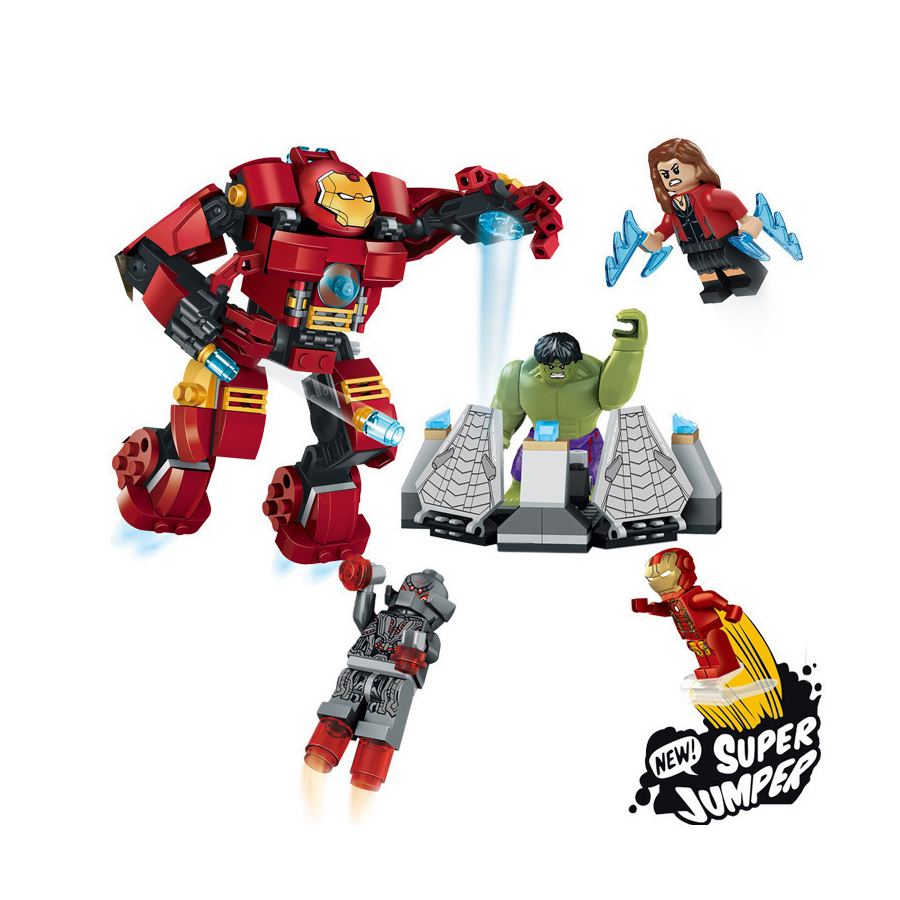 Legoe Marvel Super Heroes Avengers Building Blocks Ultron Figures Iron Man Hulk Buster Bricks Toys