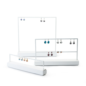 Image 5 - FANXI Jewelry Display Rack White Metal Earrings Necklace Display Holder Jewelry Organizer Expositor Jewelry Display Stand