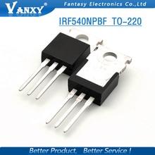 100 PCS IRF540N IRF540 IRF540NPBF TO-220 TO220 novo e original IC frete grátis
