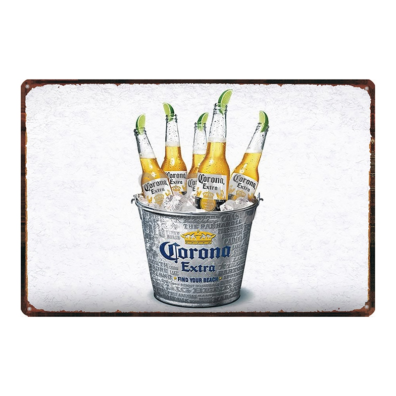 Beach Beer Tin Sign Retro Wall Home Plaque Metal Vintage Pub kitchen Shop Bar Restaurant Decoration Wall Sticker DU 2587 in Plaques Signs from Home Garden