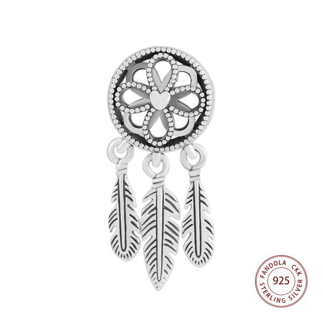a1a4d526f Fits Pandora Charms Bracelet Argent 925 Sterling Silver Spiritual Dream  Catcher Dangle Charm Beads for Jewelry Making
