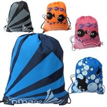 30PCS / LOT Women Drawstring Bag Oxford Waterproof Backpack Cute Fish B