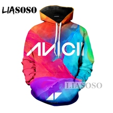 LIASOSO Winter Fashion Men Women 3D Print DJ Singer Avicii Hoodie Hip Hop  Long-Sleeved 7d1c9bb1ff28