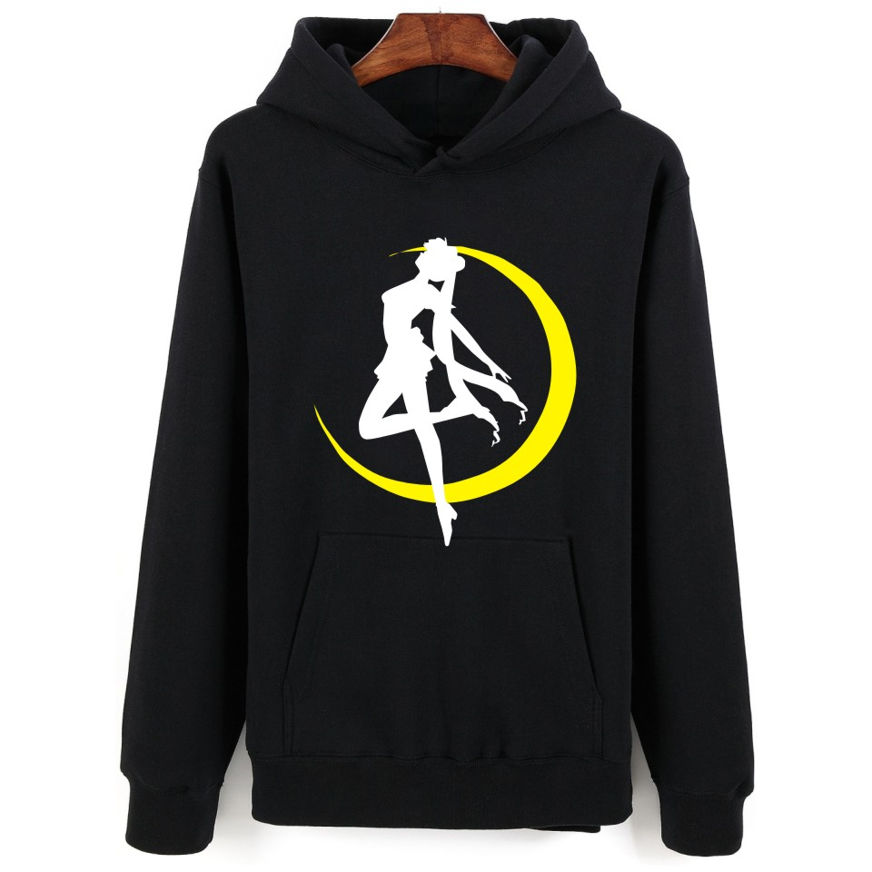 Sailor Moon Hoodie 2018 New Design Women Sweatshirt Hoodies Plus Size XXS To 4XL Japanese Anime Funny Jacket
