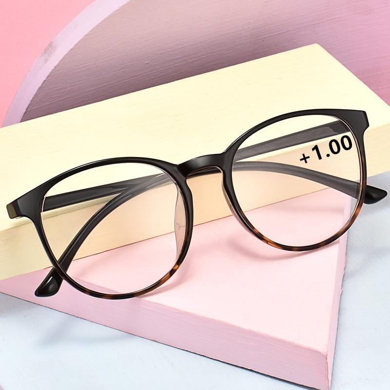 TR90 Glasses Frame Round Men/Women Prescription Glasses Myopia Optical Eyeglasses Hyperopia Anti-blue Light Discoloration