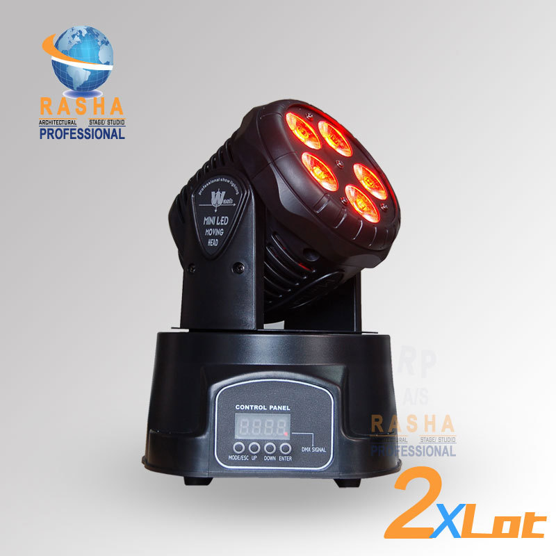 2X LOT Factory Price Freeshipping 5*15W RGBAW MINI LED Moving Head Wash Light,Wash Light,LED Moving Head For Event,Disco Party