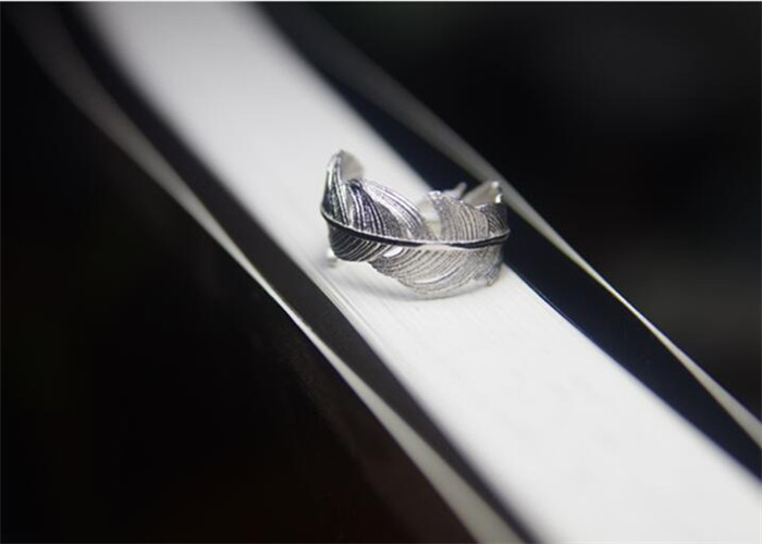 Flyleaf 925 Sterling Silver Feather Ring 3