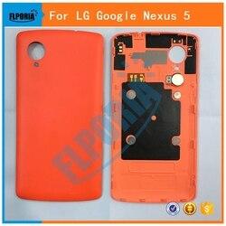 FLPORIA 1PC New For LG Google Nexus 5 D820 D821 Back Battery Cover Rear Door Housing Case Replacement Parts