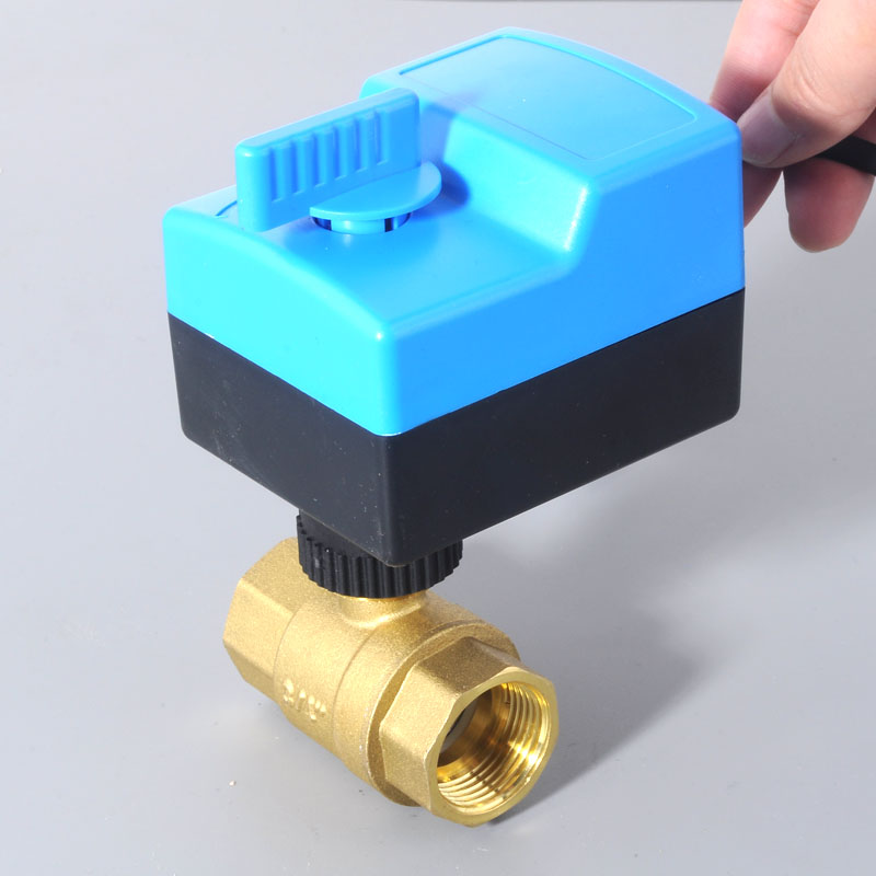 DN25(G1.0) AC220V electric actuator brass ball valve/motorized/motor-driven ball Valve,switch type electric two-way valves