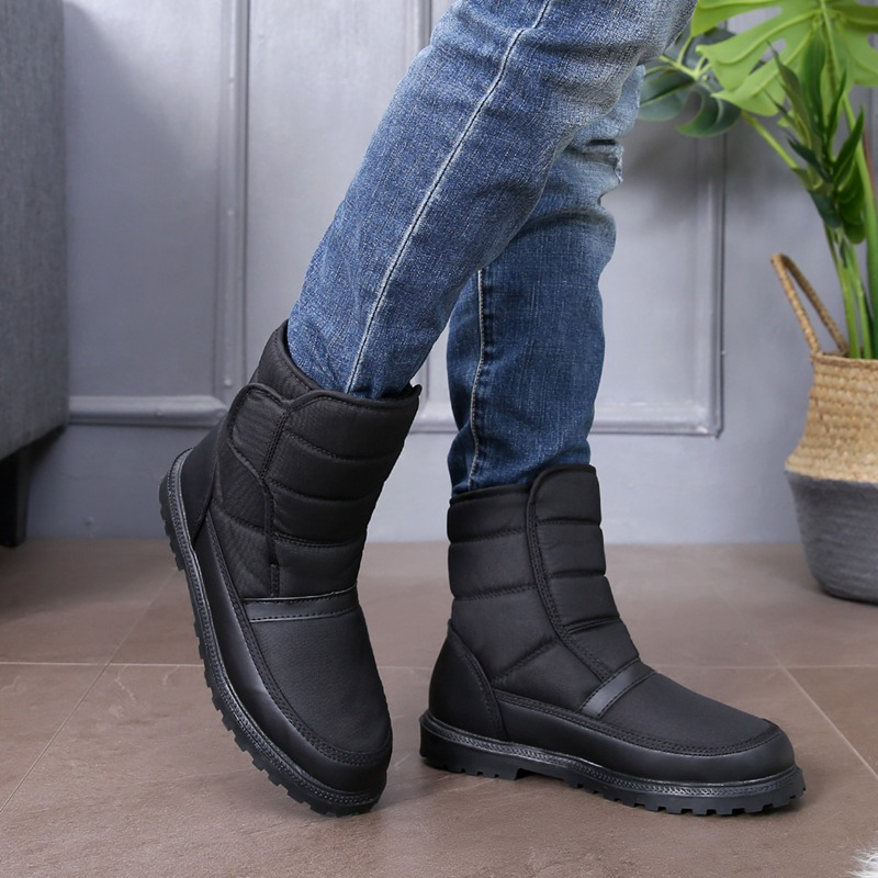 Prova Botas Tubo Anti Quente Água 1 Fivela Veludo Neve À Além Alta Inverno Sapatos sapatos Ao Sapatas De D' Esqui Livre Ar Dos Antiderrapante Algodão Homens qZ1xUnYw
