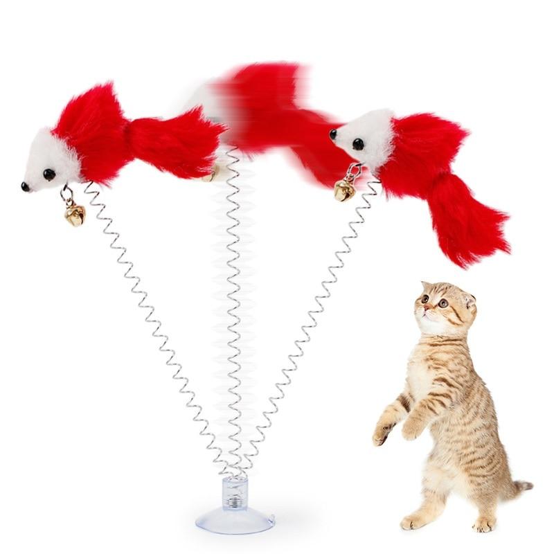 200pcs/lot Funny Pet Cat Toys Plush False Mouse Bottom Sucker Cat Kitten Playing Toys Pet Seat Scratch Toy 20cm WA0734