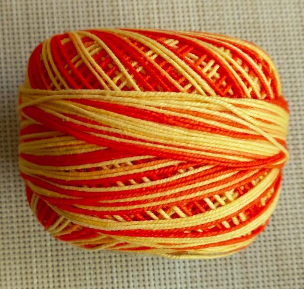 4 рулона пестрая нить для вязания крючком/пряжа и нить для вязания 50 г/рулон - Цвет: Цвет: желтый