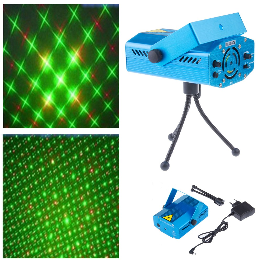 LemonBest Mini DJ Club Disco Projector music Stage Laser Light all star Music Control Function  blue color