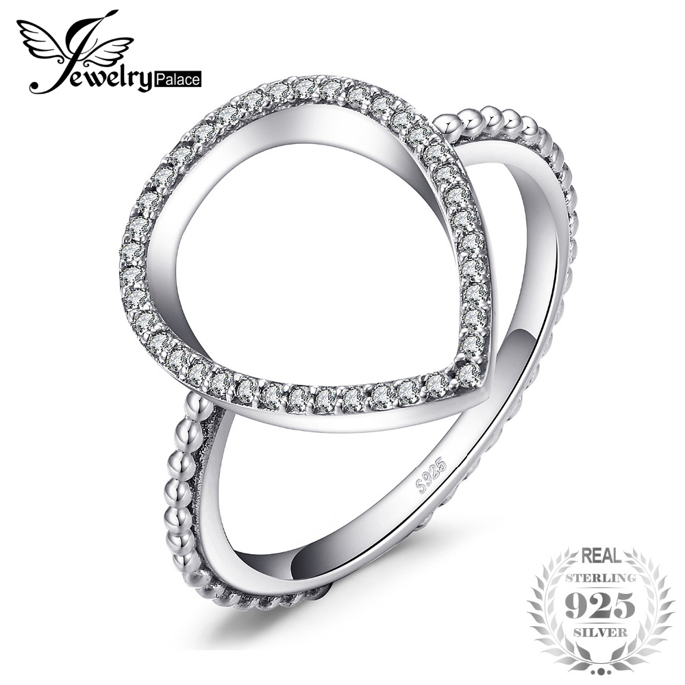 Jewelrypalace 925 Sterling Silver Pave Cubic Zirconia Waterdrop Halo Ring Gift Wedding Rings For Women Hot Selling 2018 DesignJewelrypalace 925 Sterling Silver Pave Cubic Zirconia Waterdrop Halo Ring Gift Wedding Rings For Women Hot Selling 2018 Design