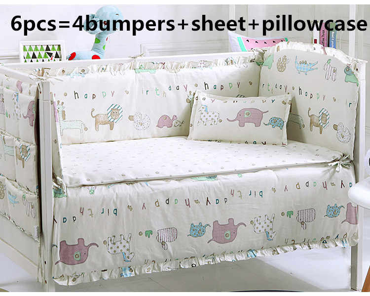 6pcs Baby Boy Crib Bedding Sets Cot Cradle Bedlinen Include Pers Sheet Pillow Cover On Aliexpress Alibaba Group
