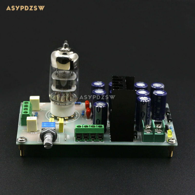 Finished Tube 6N3 Buffer Audio Preamplifier Pre AMP board For DIY Amplifier (Include 6N3 tube) 1pcs high quality 6n3 6z4 tube valve pre amp class a audio stereo preamplifier include transformer g2 007