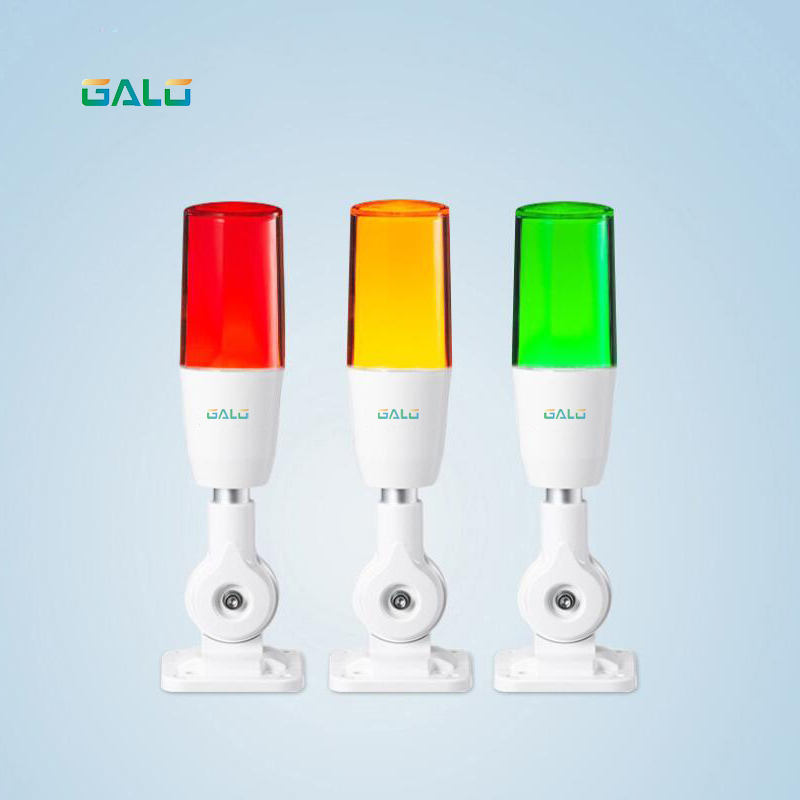 Industrial Signal Tower Safety Stack Alarm Light Lamp Bulb Red Green Yellow Lamp LED White Plastic Indoor 1 Layer With Base