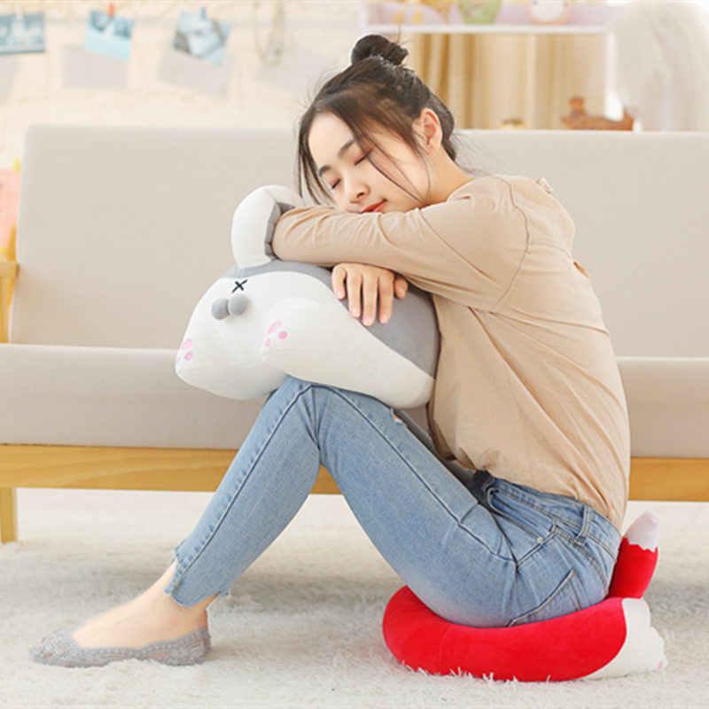 1 шт. 35 см Милая Собачка/кошка прикладом плюшевая подушка мультяшный плюшевый хомяк/лиса прикладом подушка игрушки подарки на день рождения Детские игрушки