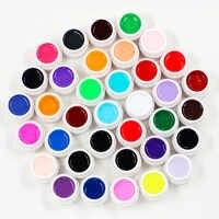 36 boîtes UV Gel solide couleur Gel pour ongles couleurs pures brillant Extension longue durée ongles Art conseils colle vernis vernis à ongles peinture vernis