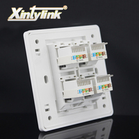 4 Port 86mm Keystone Wall Plate Faceplate Rj45 Jack Modular Face Plate Socket Rj45 Wall Socket