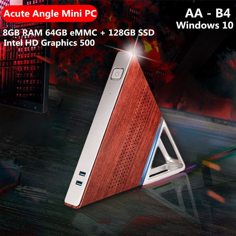 Acute Angle AA-B4 DIY Mini PC Intel Apollo Lake N3450 8GB RAM 64GB EMMC + 128GB SSD 2.4G 5.8G WiFi 1000Mbps BT4.0 PK PIPO X10PRO