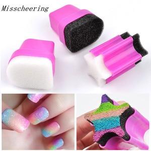 New 1 pcs Nail Art Transfer Sponge Gradient Coloring Stamping Stamper Painting Image Foam For DIY Polish Gel UV Manicure Tools