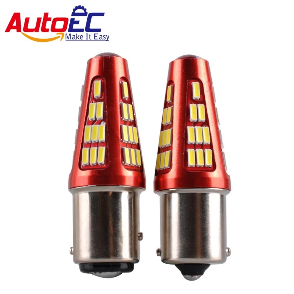 AutoEC 2x 1156 1157 ba15s bay15d p21w p21 / 5w 48 smd 3014 led auto - Faruri auto