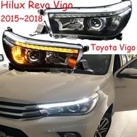 2 шт. Автомобиль Стайлинг для Hilux фары автомобиля 2015 2016 2018 2017 год Hilux Revo Vigo фар DRL Bi Xenon объектив Высокий Низкий луч парковка