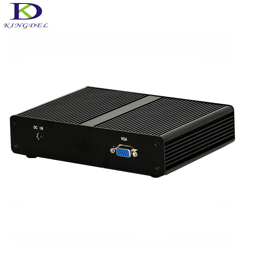 Fanless Mini PC With 4 Ethernet LAN Mini Computer Router Celeron J1900 Quad Core Max 2.41GHz VGA Nettop PC Destop TV