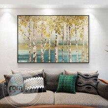 Cuadro nostálgico de La imagen de árbol dorado, póster de moda n impreso, imagen artística para pared para sala de estar, dormitorio, pasillo, decoración del hogar