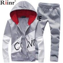 d93d40bcdefcea Riinr Brand Sporting Suit Men Warm Hooded Tracksuit Track Men's Sweat Suits  Set Letter Print Large Size Sweatsuit Male 5XL Sets