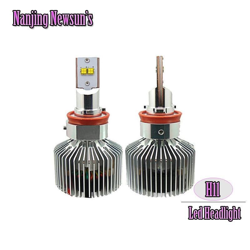 Ultra Bright Car Headlights H11 Auto Front Driving DRL Fog Light Bulbs Plug&Play H11 Led Headlight Conversion Kit W Driver