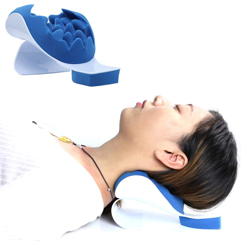 Neck Support Relaxer Shoulder Chiropractic Pillow Traction Stretcher Device Cervical Spine Therapeutic and Helps Spine Alignment