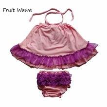 Детские комплекты для девочек Цветочное платье детская одежда