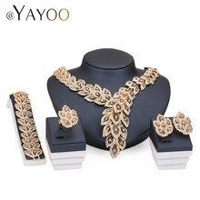 Sistemas de la joyería Para Las Mujeres Fina Imitación Collar de Perlas Africanas Set Pendientes de Cristal Colgante Chapado En Oro de Accesorios Del Vestido de Boda